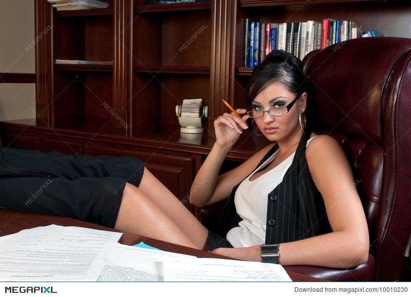 sexy secretary stock photo 10010230 - megapixl