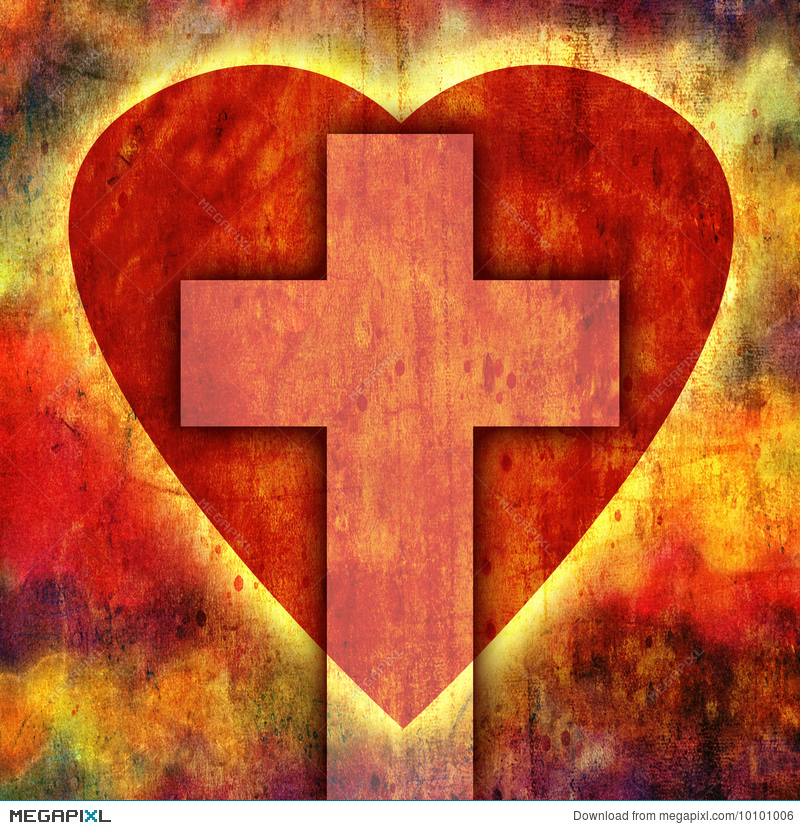 heart cross illustration 10101006 megapixl