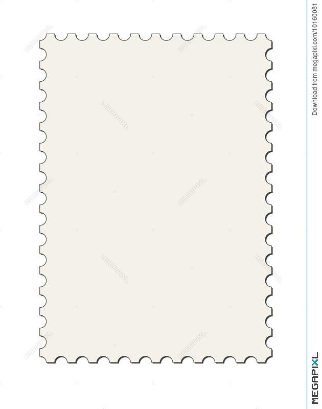 Postage Stamp Border Vector