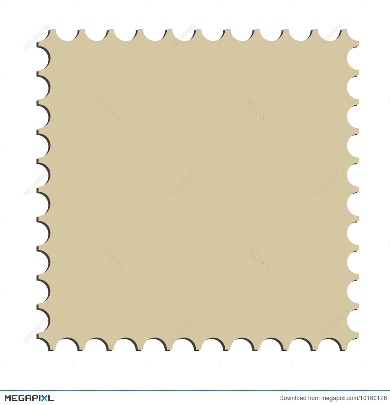 Illustration Square Postage Stamp Border Vector