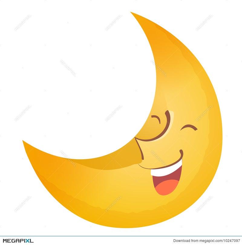 Moon Face Illustration 10247097