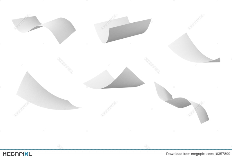 Blank Curl Paper Flying In Wind Illustration 10357899 - Megapixl