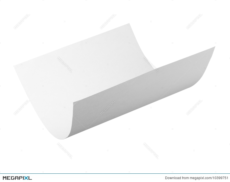 Blank Curl Paper Flying In Wind Stock Photo 10399751 - Megapixl