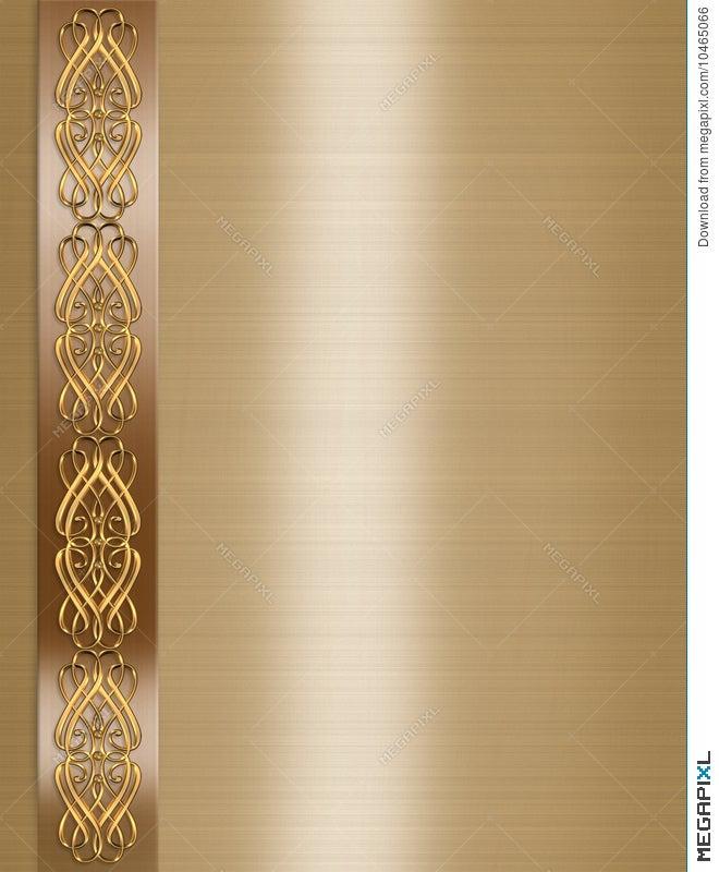 Wedding invitation elegant border gold illustration 10465066 wedding invitation elegant border gold stopboris Choice Image