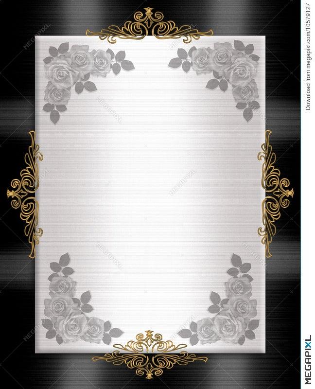 formal invitation template black white illustration 10579127 megapixl