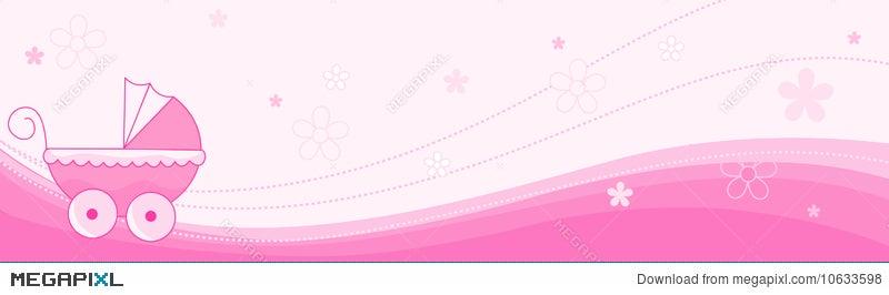 baby girl banner header illustration 10633598 megapixl