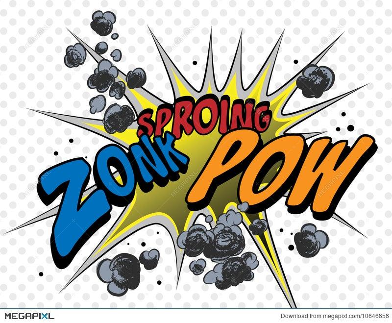 Comic Book Explosion Illustration 10646858