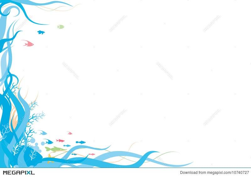 Ocean Border Illustration 10740727 Megapixl