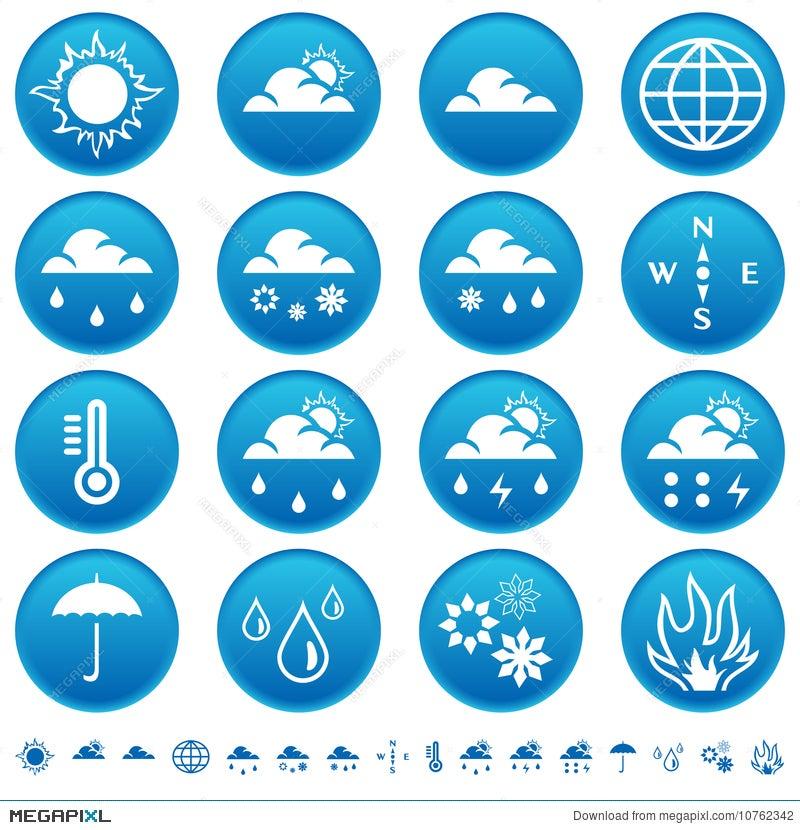Weather Symbols Illustration 10762342 Megapixl