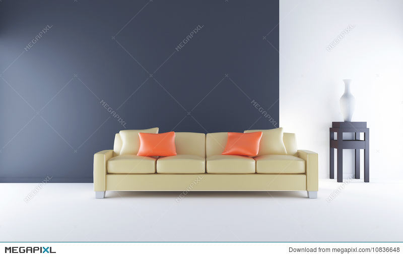 Prime Couch To Face A Blank Black Wall Illustration 10836648 Machost Co Dining Chair Design Ideas Machostcouk