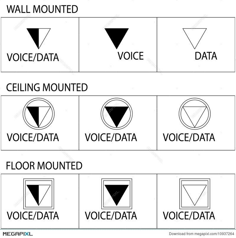 Telecommunication Outlet Symbols Illustration 10937264 - Megapixl