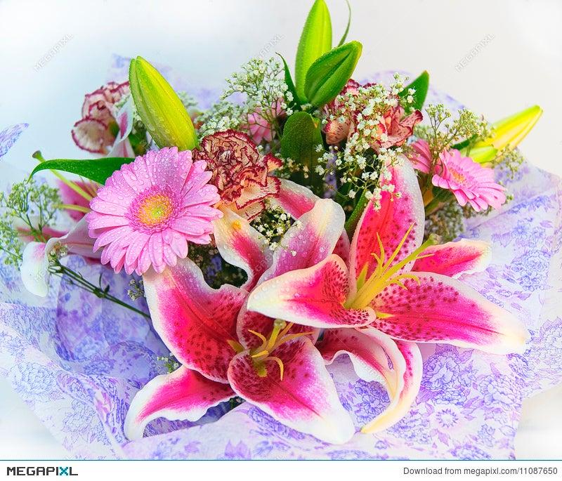 Colorful Flowers Bouquet Stock Photo 11087650 - Megapixl