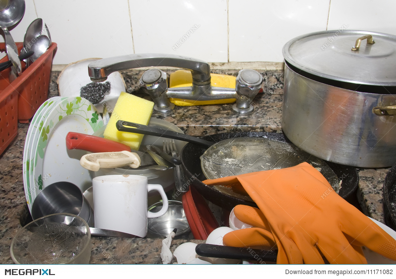 Dirty Kitchen Sink Stock Photo 11171082 - Megapixl