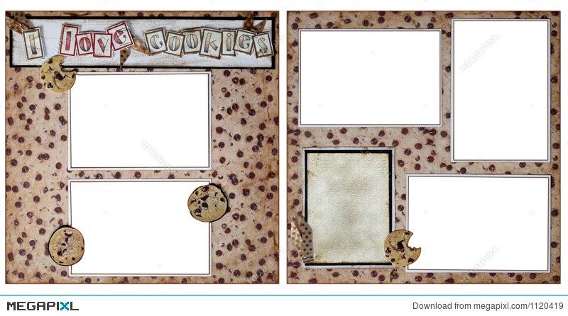 cookie baking scrapbook frame template