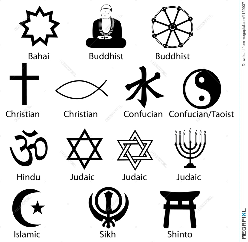 Religion Symbols Religious Illustration 1139037 Megapixl
