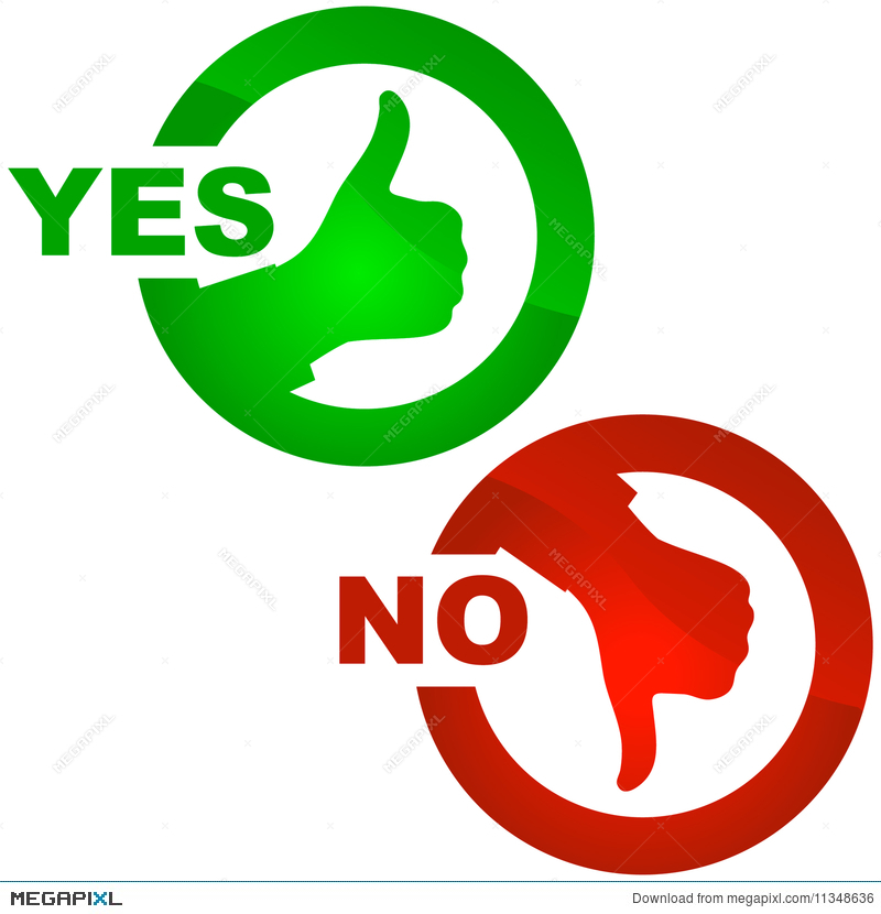 Yes And No Icon Illustration 11348636 Megapixl