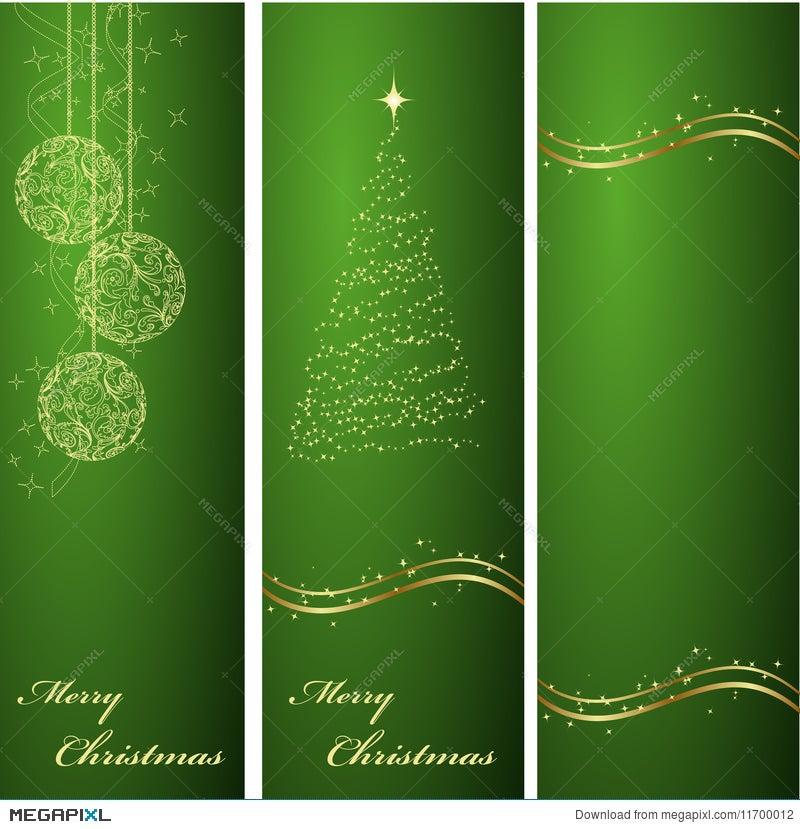 Vertical Green Christmas Backgrounds