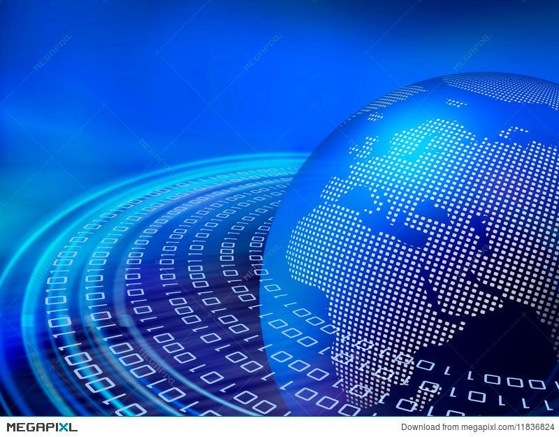 digital blue data orbits illustration 11836824 megapixl