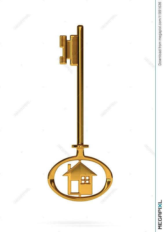 Gold House Key Illustration 11991636 Megapixl