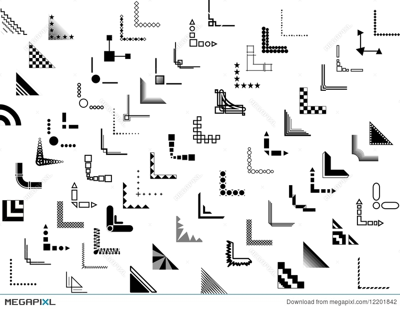 70+ Vector Corner And Border Designs Illustration 12201842 ...