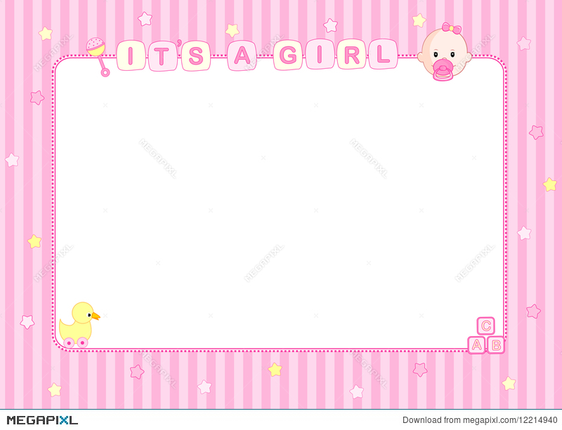 Marvelous Baby Girl Arrival Card / Background