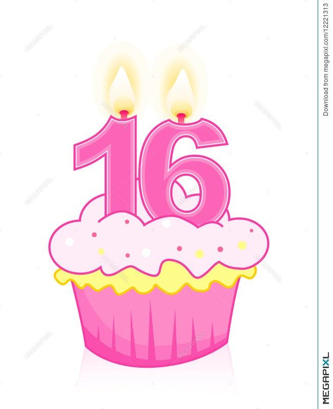 Cool Sweet Sixteen Birthday Cake Illustration 12221313 Megapixl Personalised Birthday Cards Akebfashionlily Jamesorg