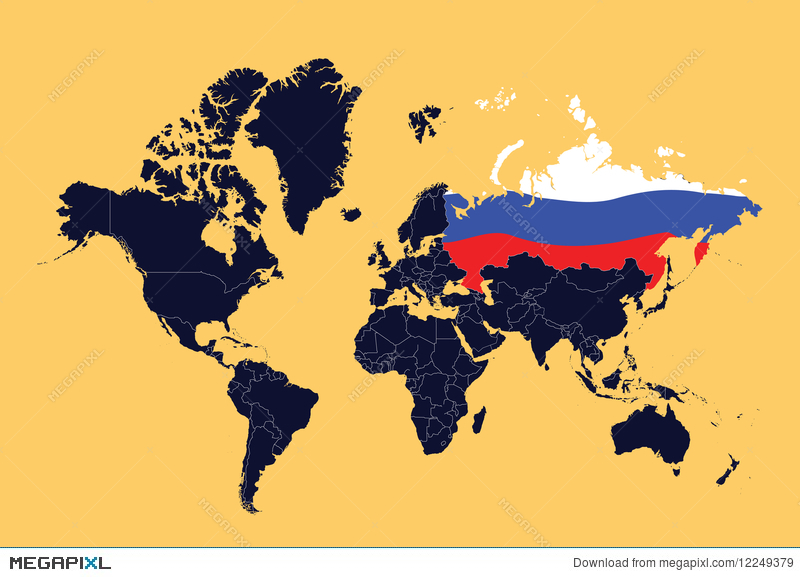 Russian Flag World Map Russian Presidential Election Map - World map russian language