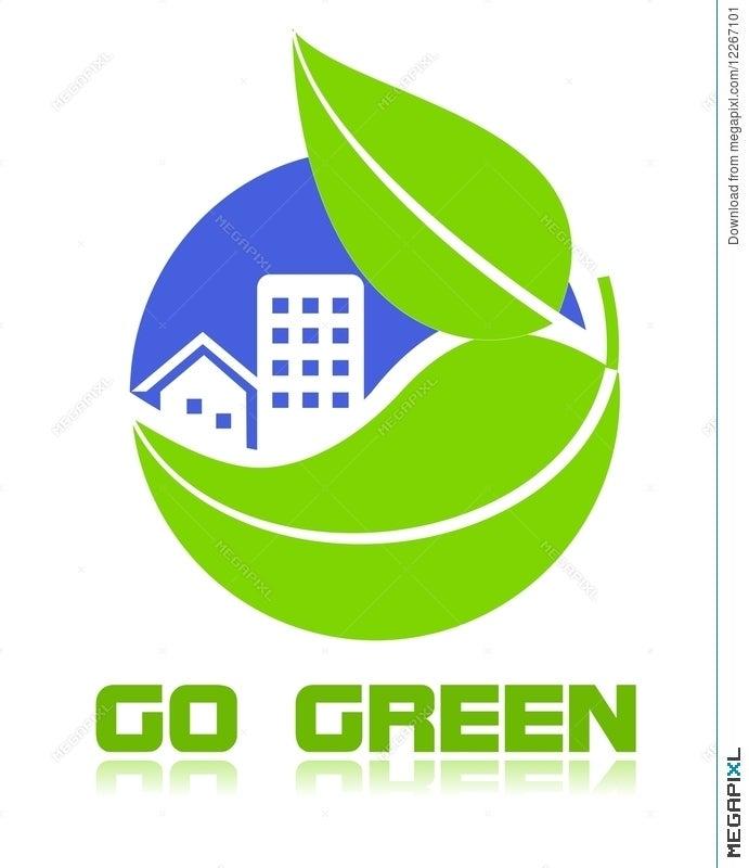 Go Green Icon Illustration 12267101 Megapixl