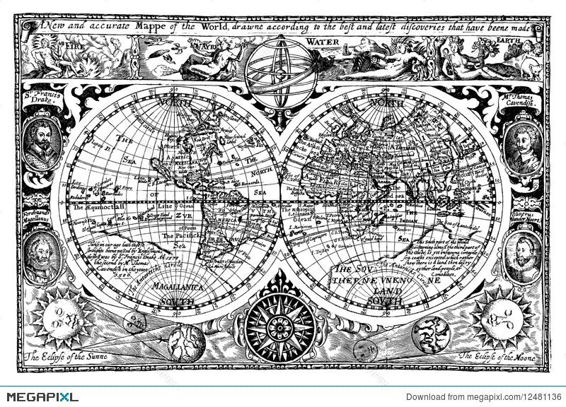 Vector illustration antique world map illustration 12481136 megapixl vector illustration antique world map gumiabroncs Gallery
