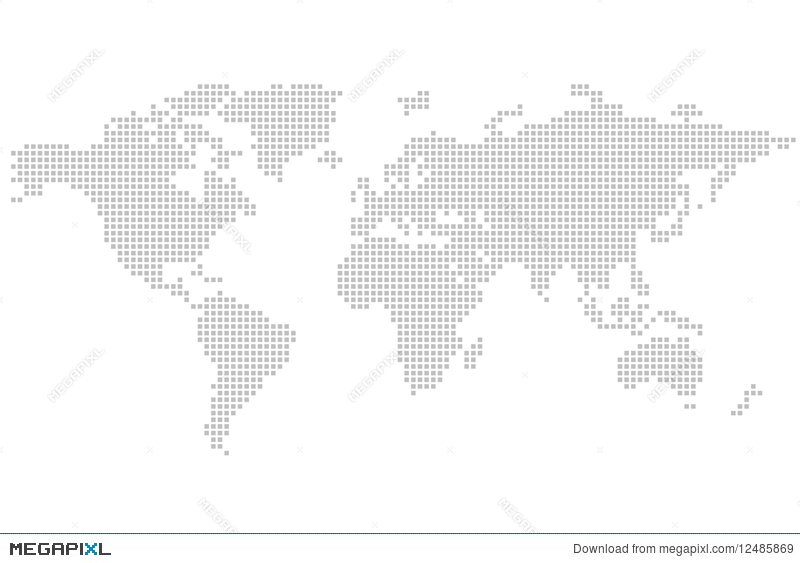 World map square puzzle illustration 12485869 megapixl royalty free gumiabroncs Image collections