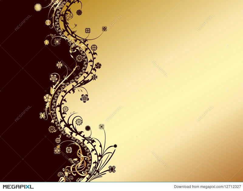 Gold And Black Invitation Card Illustration 12712327 Megapixl