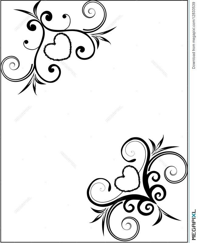 Valentine Card/frame Illustration 12833539 - Megapixl