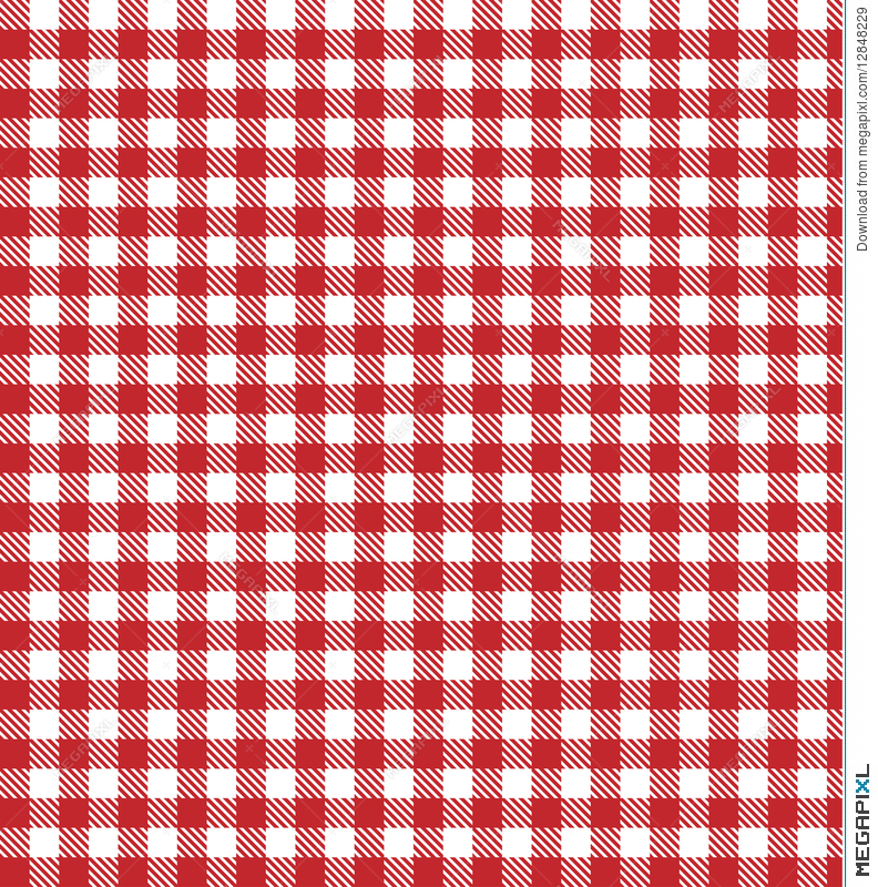 Picnic Table Cloth Tablecloth Plaid Red Vector Background Fabric Vichy  Gingham Bakery Country Tartan Retro Square
