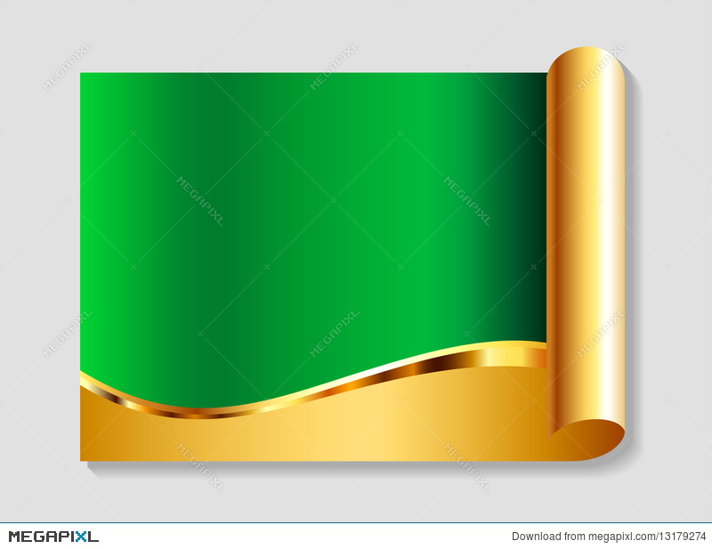 Gold And Green Abstract Background Illustration 13179274