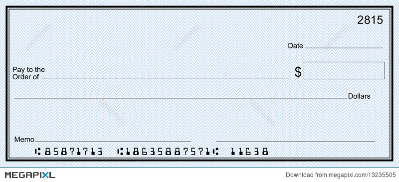 Large Bank Check With False Numbers