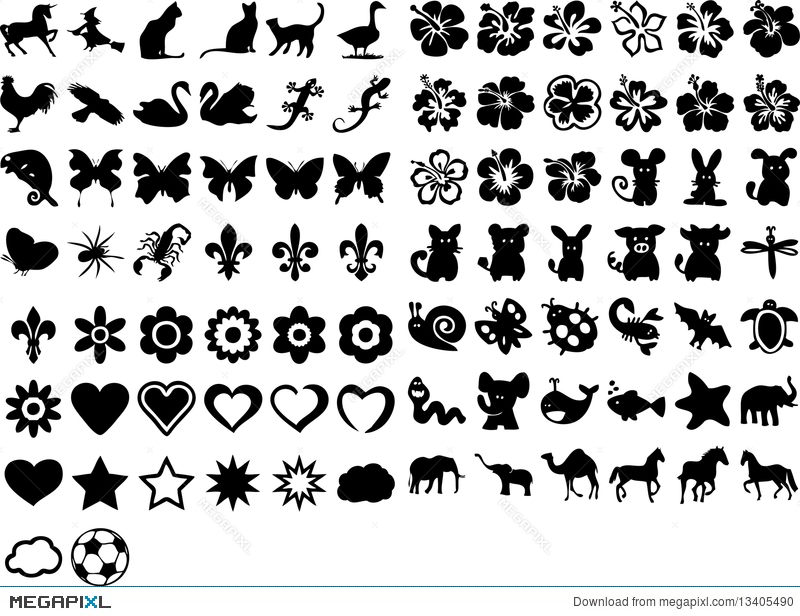 Cute Symbols Illustration 13405490 Megapixl