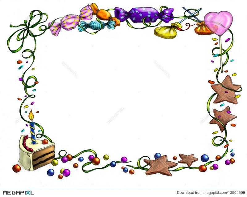 Happy Birthday Frame Illustration 13804509 - Megapixl