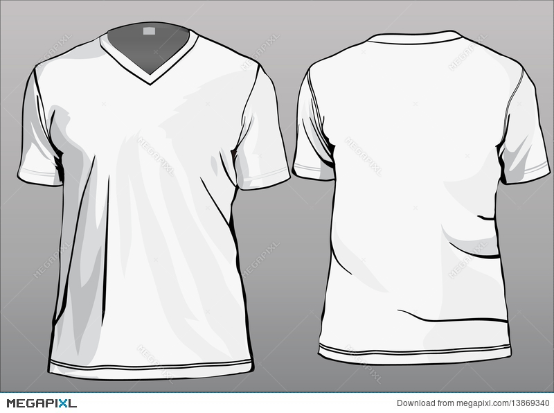 TShirt Template With V Neck
