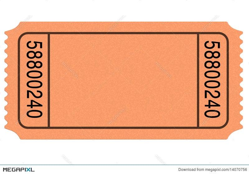 Movie Ticket Blank Illustration 14070756 - Megapixl