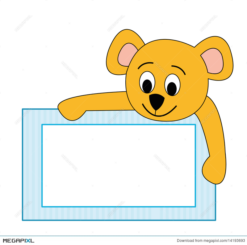 Frame With Teddy Bear Illustration 14193693 - Megapixl