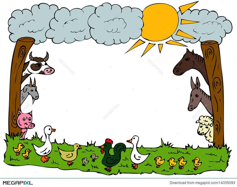 Animal Farm Frame Illustration 14335093 - Megapixl
