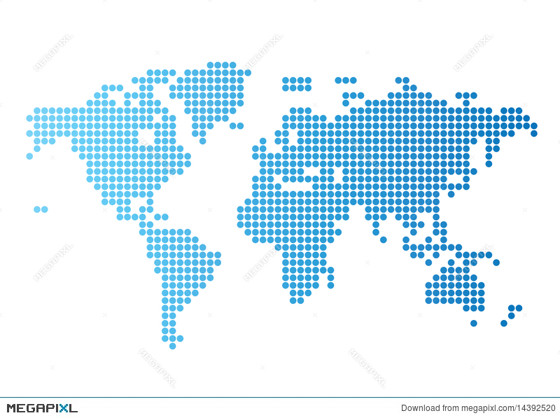 World map of blue round dots illustration 14392520 megapixl royalty free gumiabroncs Image collections