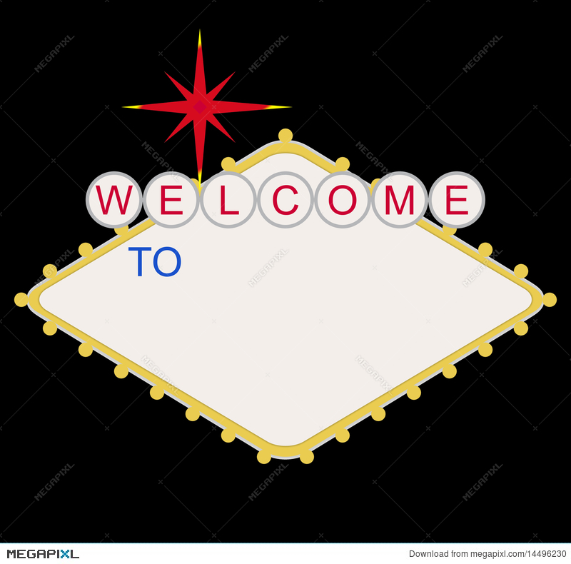 Blank Welcome To Las Vegas Sign Illustration 14496230 - Megapixl