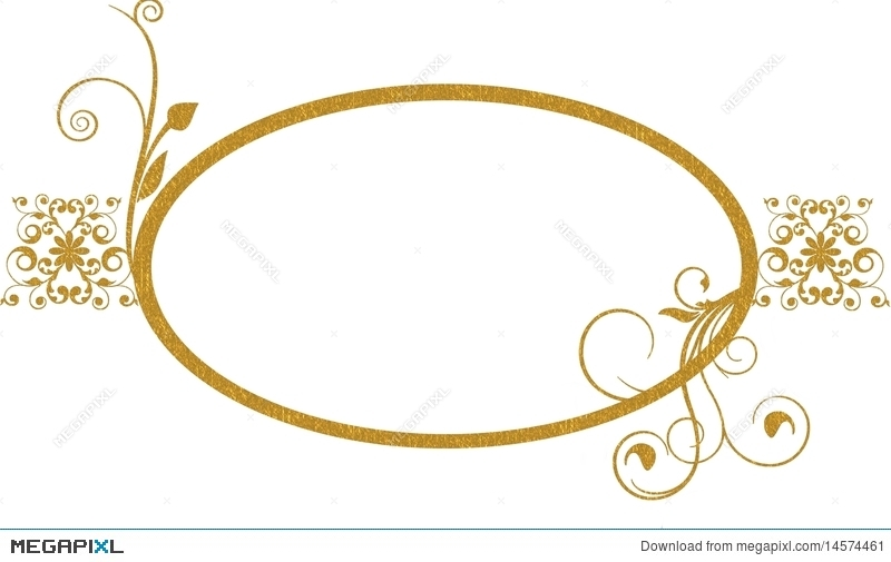 Gold Oval Frame Background