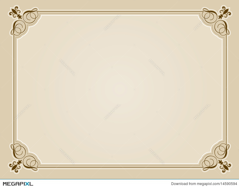 Blank Certificate Background Illustration 14590594 - Megapixl
