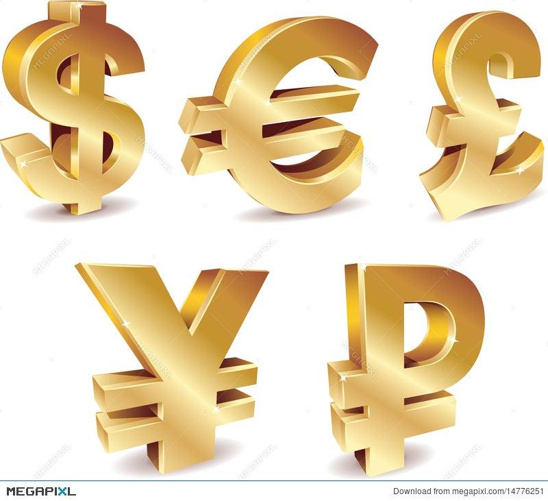 Currency Symbols Illustration 14776251 Megapixl