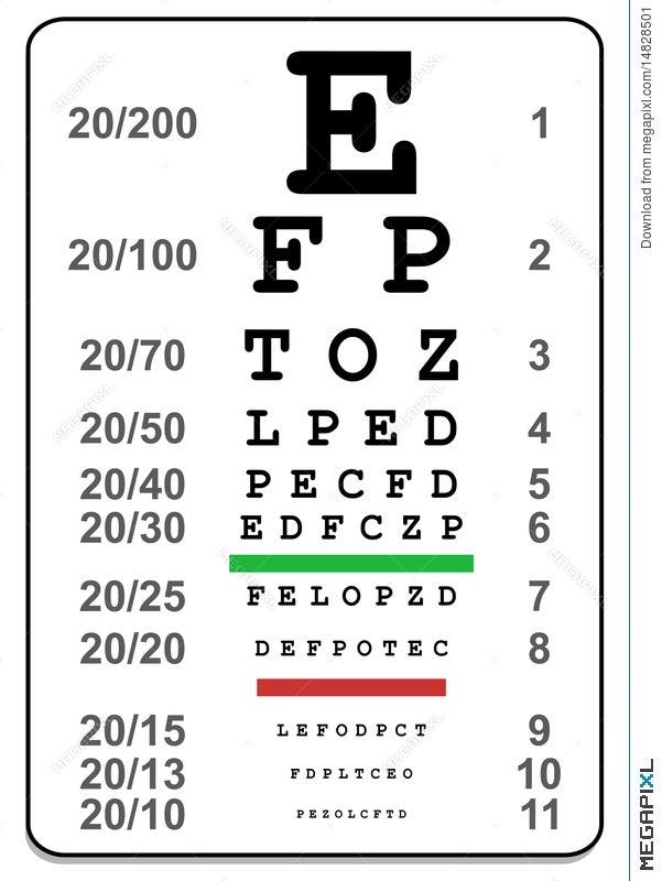 Eye Test Chart Illustration 14828501 Megapixl