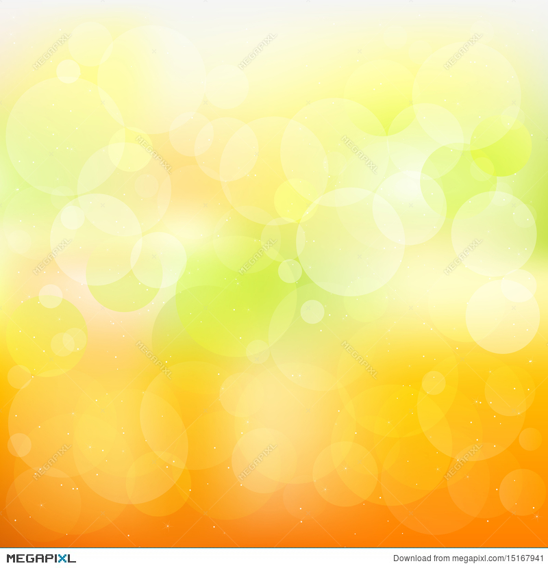 Abstract Orange And Yellow Background Vector Illustration
