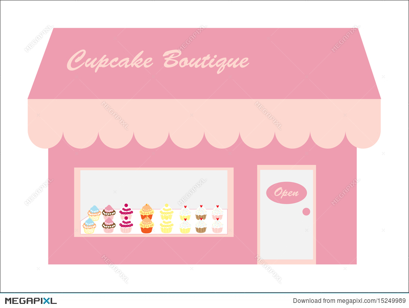 Cupcakes Store / Shop Logo Illustration 15249989 - Megapixl