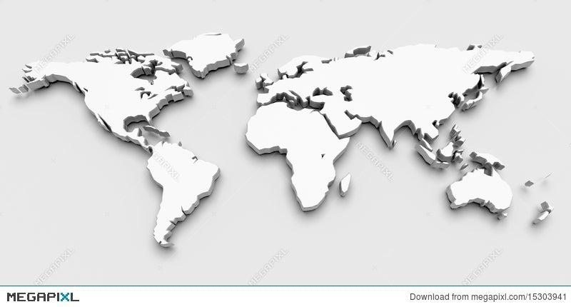 3d world map illustration 15303941 megapixl 3d world map gumiabroncs Images